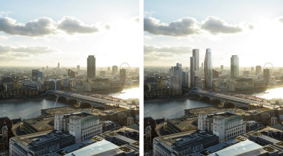 tall buildings planned for London