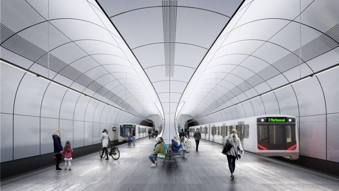 stations of Fornebubanen metro line