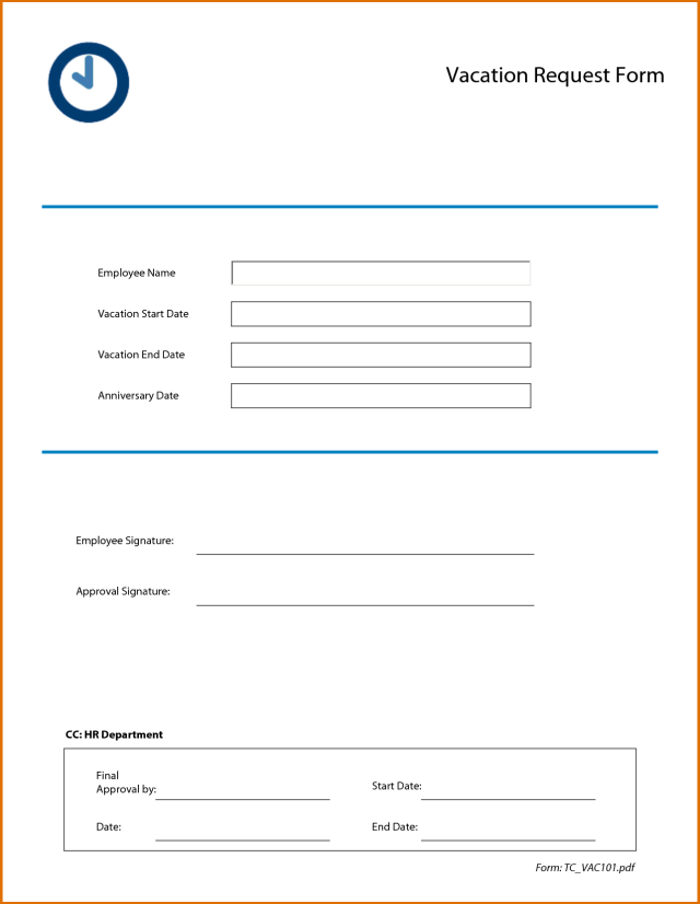 Vacation Request Forms