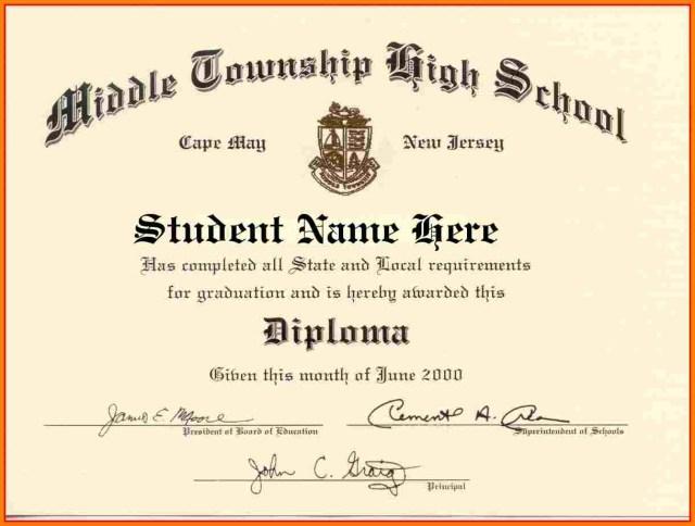 High School Diploma Templates printable