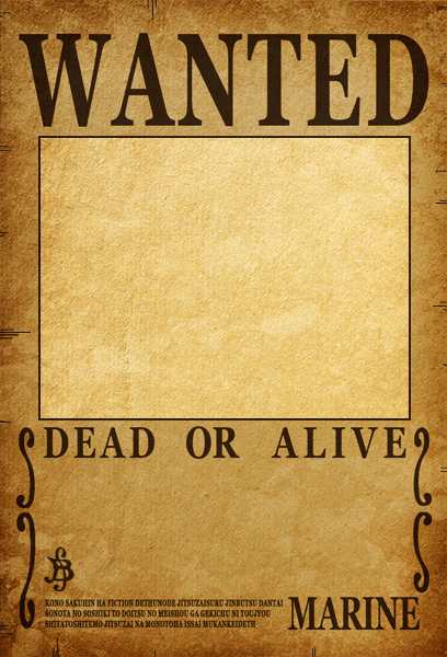photo relating to Printable Wanted Poster called 1 Piece Wished-for Poster Template - Cost-free Obtain