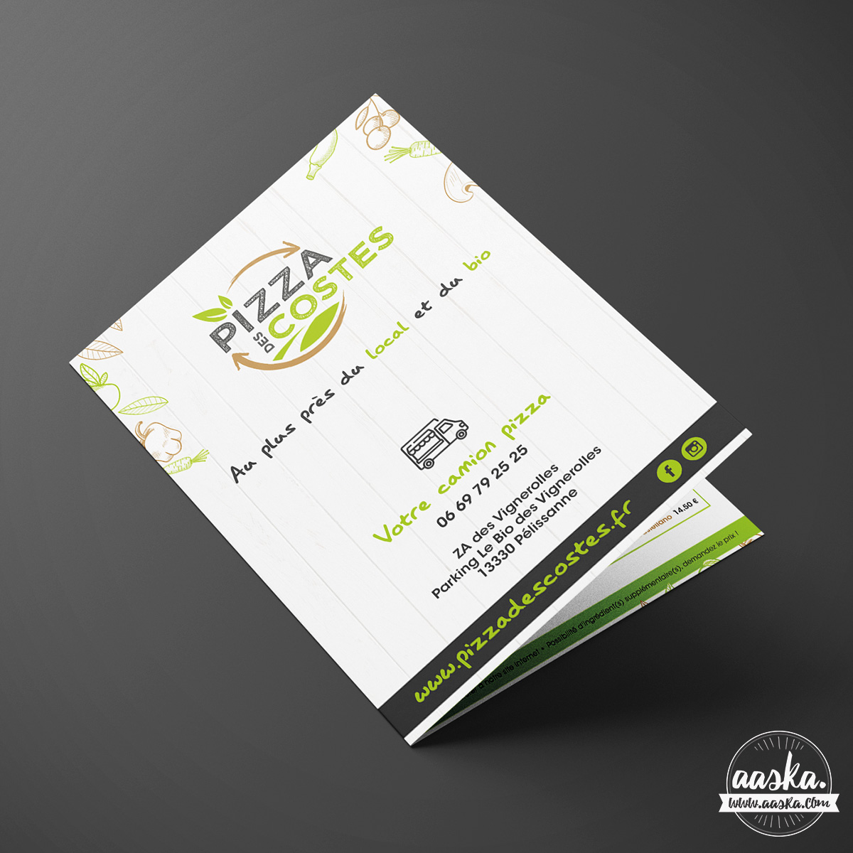 En Plus Du Logo Jai Egalement Realise Les Cartes De Visite Et Un Flyer Pour La Societe