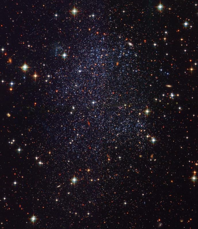 Hubble image of the Sagittarius Dwarf Galaxy in the local group. Given how faint these galaxies are, what is the likelihood we'll be able to find their distant ancestors? [NASA, ESA, and The Hubble Heritage Team (STScI/AURA)]