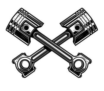 Set of car service station emblems and design elements. For logo, label, sign, banner, t shirt, poster. Vector illustration