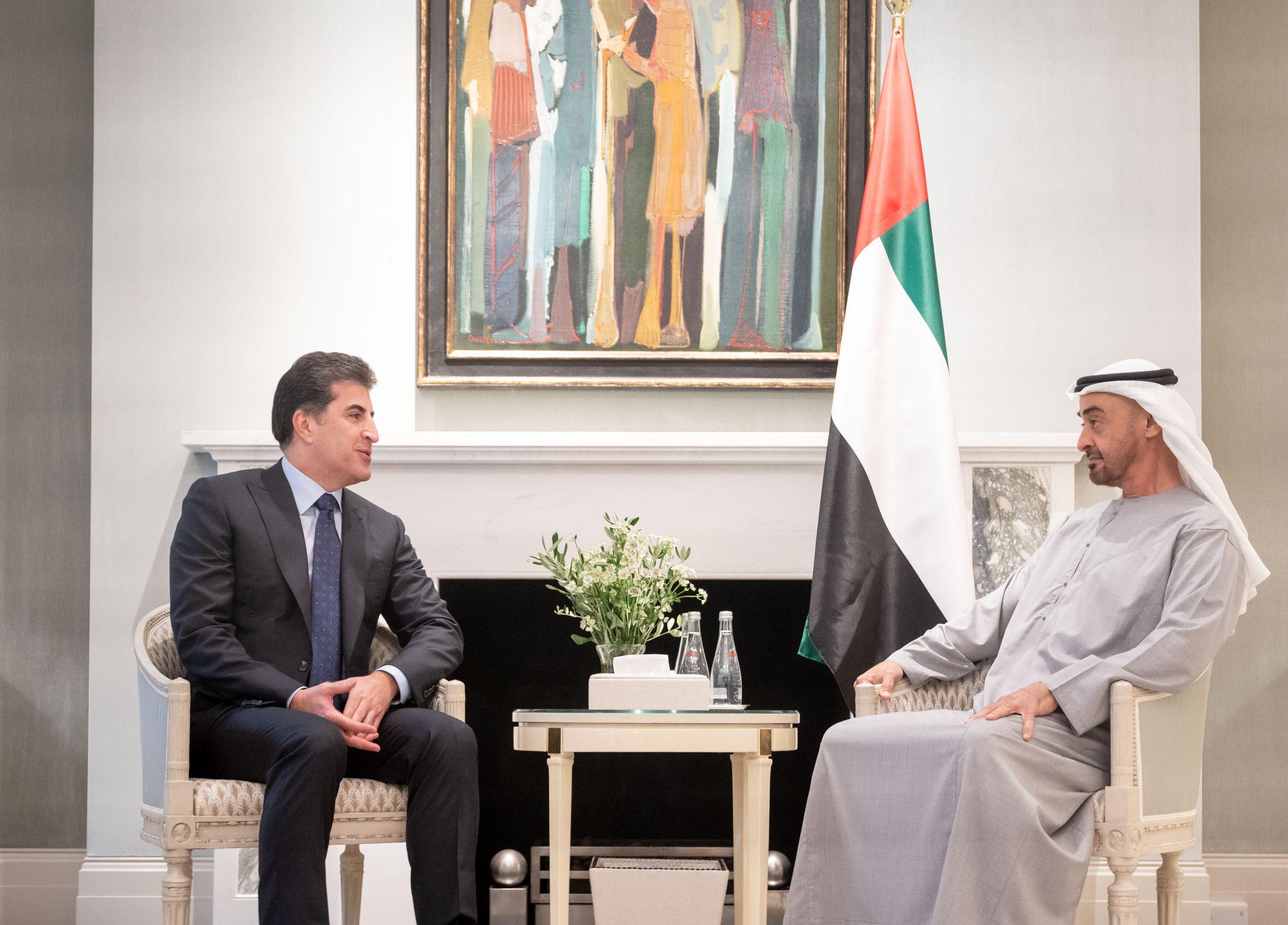 #محمد_بن_زايد يلتقي رئيس إقليم كردستان العراق على هامش زيارته إلى بريطانيا  للتفاصيل