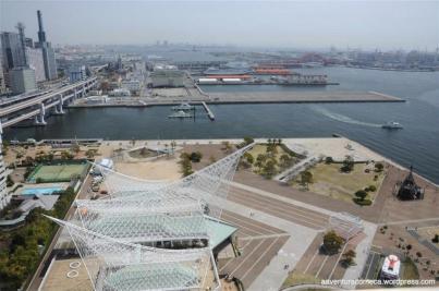 vista panorâmica da kobe port tower