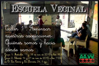 La Escuela Vecinal nace con un taller sobre el papel de las asociaciones en nuestros días