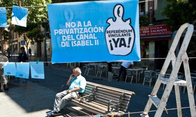La Plataforma contra la Privatización del Canal de Isabel II expone en la Asamblea su propuesta de modelo de gestión pública del agua