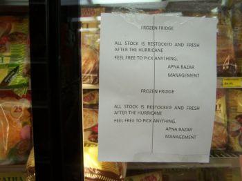 Restocked freezers post-Sandy