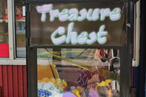 The Treasure Chest game outside the Mid-wood Deli helps bring in revenue.