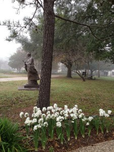 This statue in Houston's Hermann Park was a gift from China in 2009. Photo by Theresa Quintanilla.