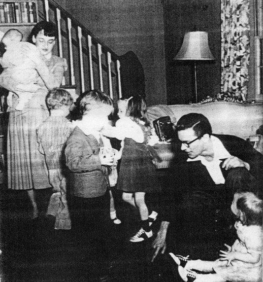 Betty Friedan at home in Parkway during a birthday party.