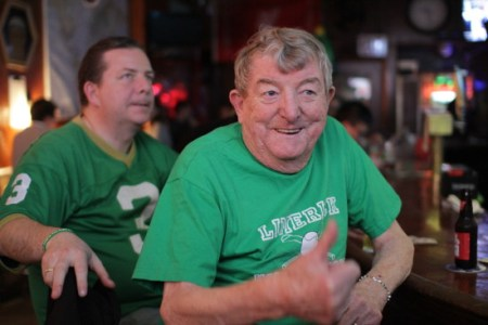 Frank McNamarra moved to Staten Island but comes back to drink and watch the game every week.
