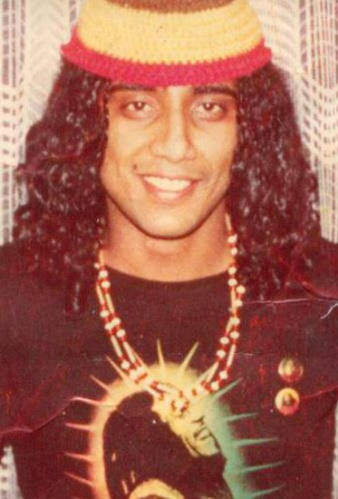 Javaid Tariq in 1982 in Germany, a year after he became inspired by Bob Marley and started growing out his hair. Photo courtesy of Javaid Tariq