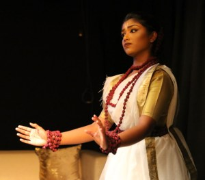Zarrin Maisha, from the Bangladesh Institute of Performing Arts, dances between scenes.