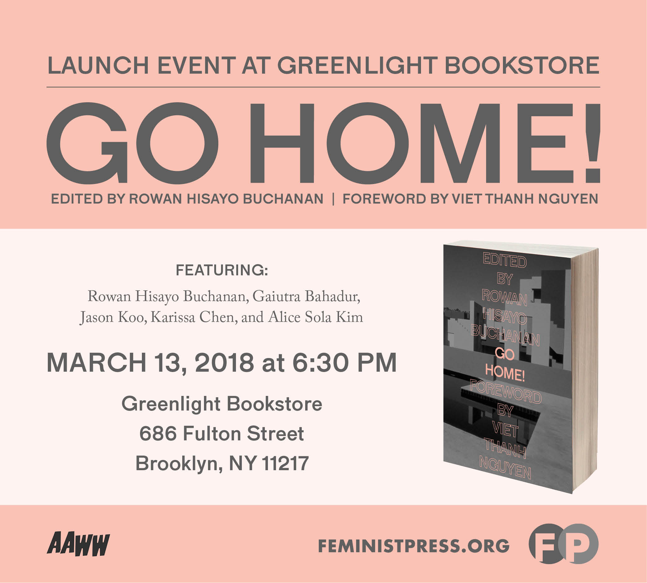 Go Home! Brooklyn Launch at Greenlight Bookstore