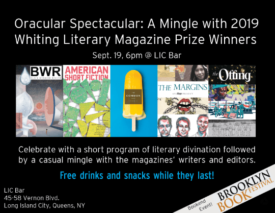 A Mingle with 2019 Whiting Literary Magazine Prize Winners