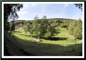 Panoramafoto van de Maibachfarm