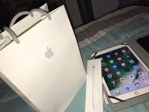 Apple iPad Pro, iPhone 7 plus and Apple Pencil