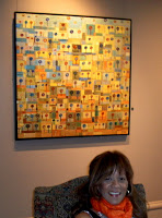 Me at Strathmore House Art Exhibit 2008 - Lollipops Garden in Gold and Silver