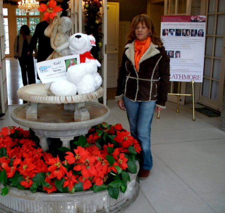 Me in the foyer of Strathmore Mansion 2008
