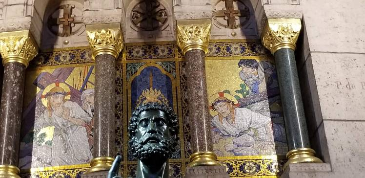 Inside Sacre Coeur Paris May 2019