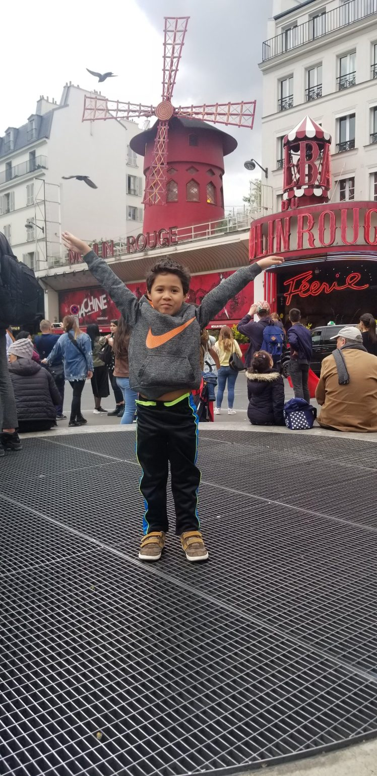 In front of Moulin Rouge with my son Paris May 2019