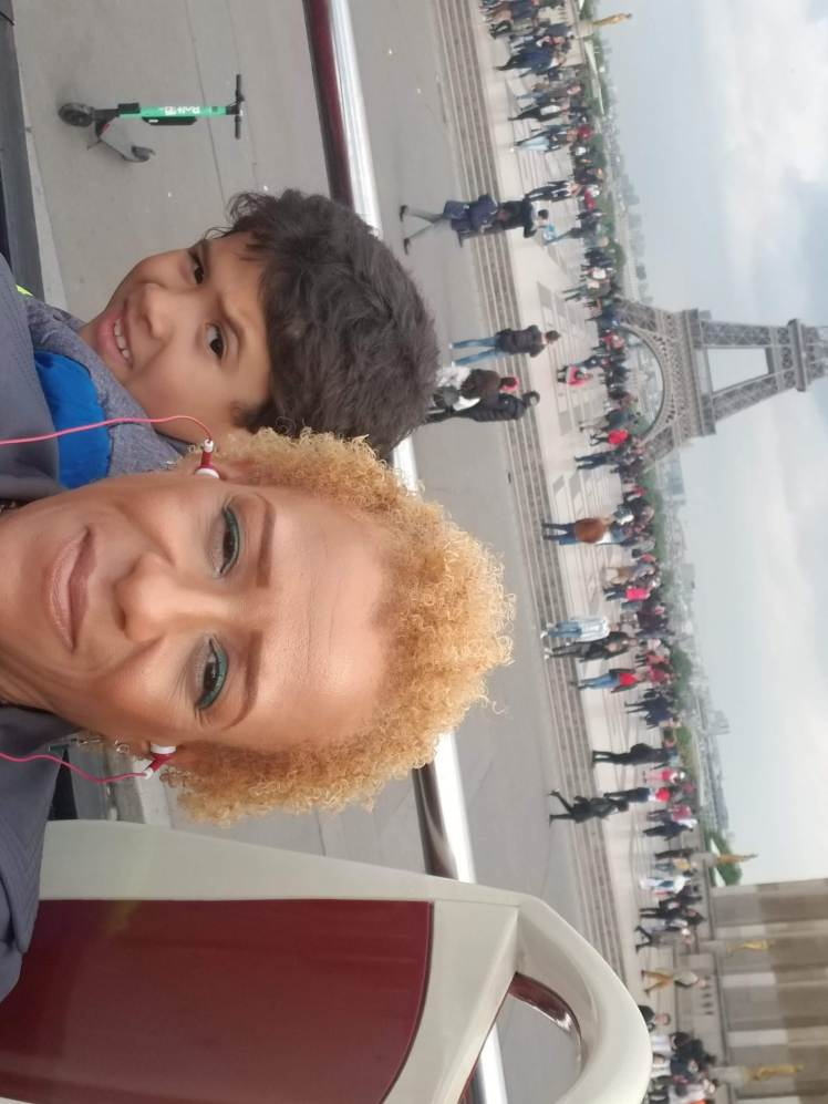 In front of Eiffel Tower with my son Paris May 2019