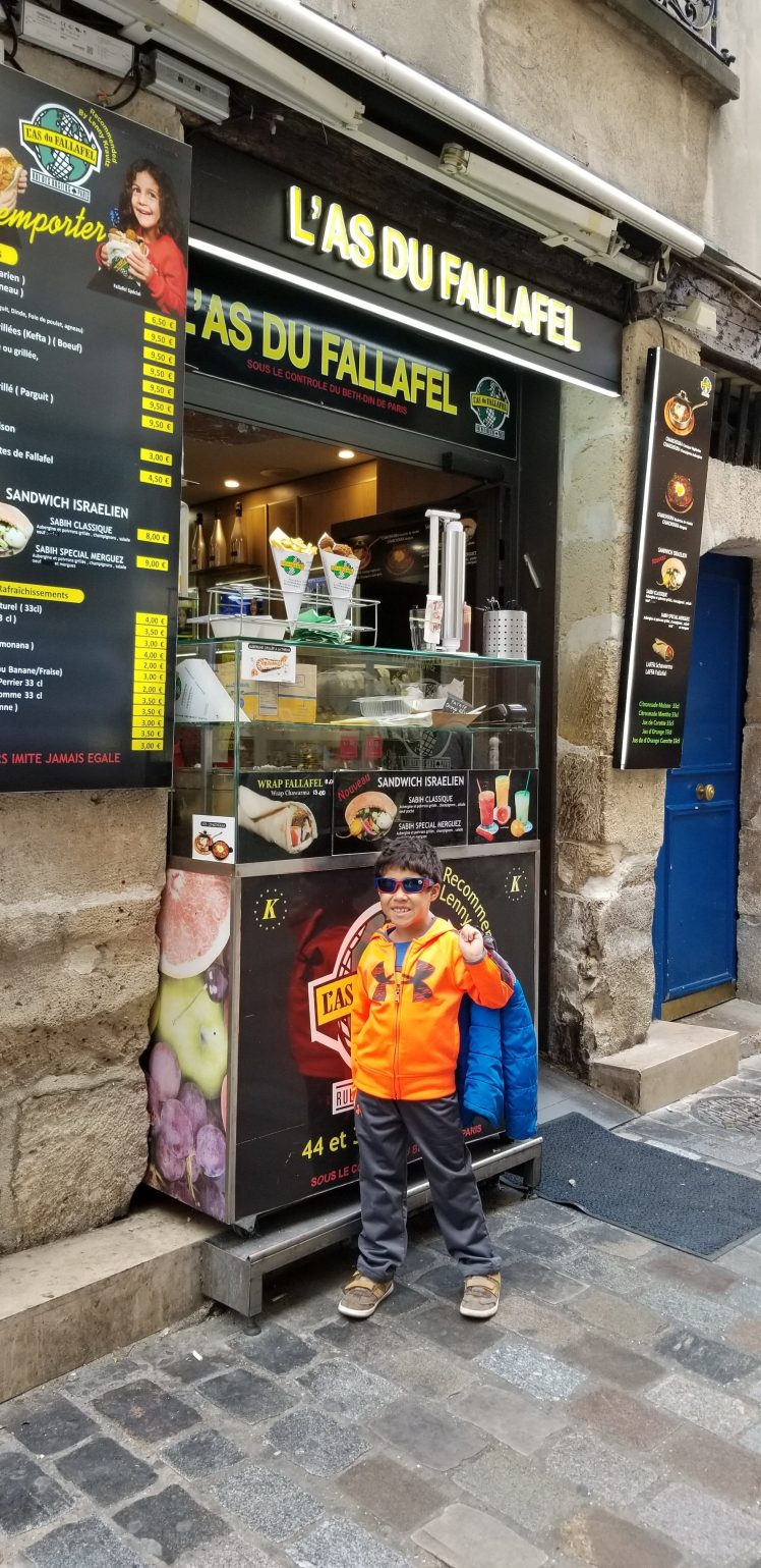 With my son Restaurant Review Paris May 2019