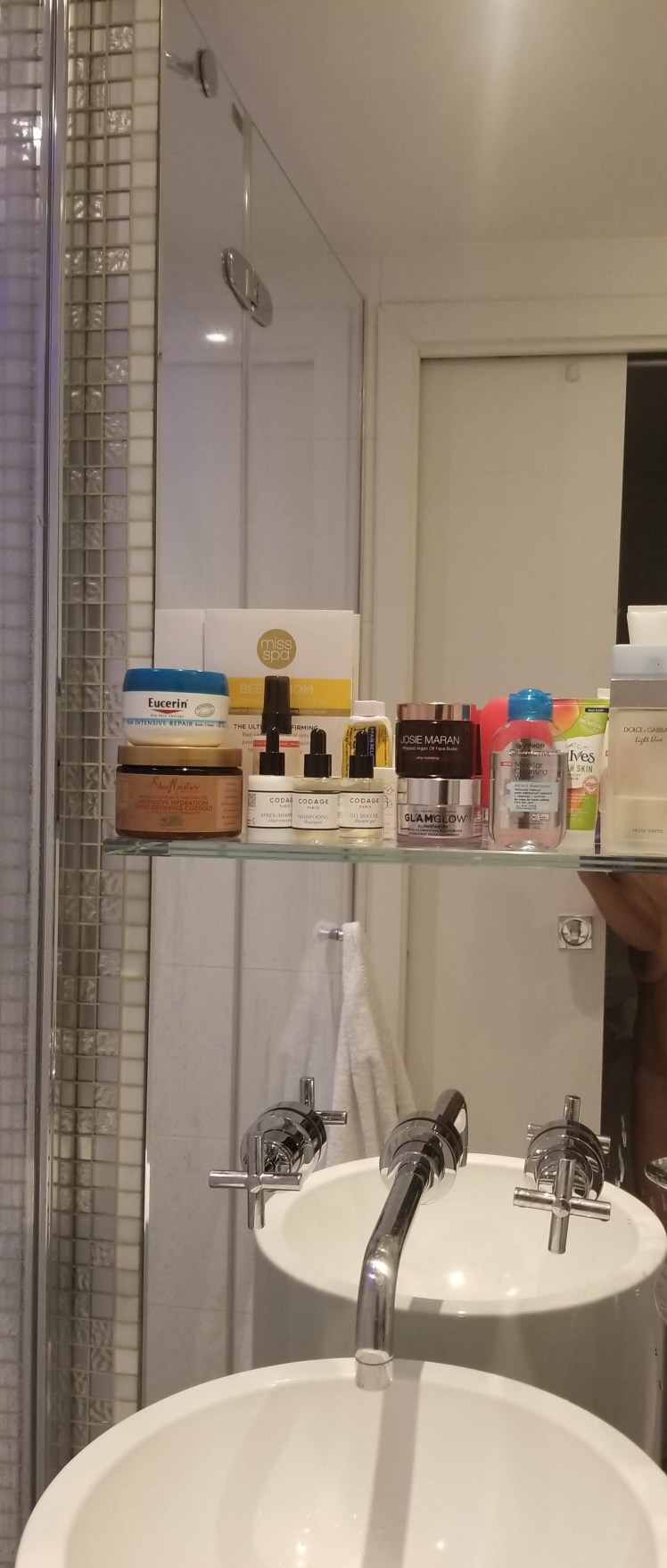 Beauty Products in bathroom Paris May 2019
