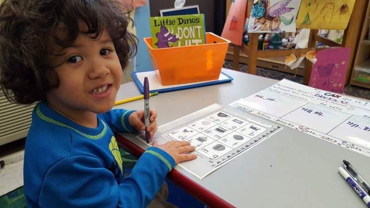 School duties with my son