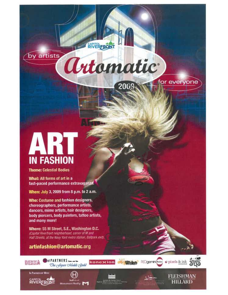 Artomatic Art in Fashion Fashion Show Flyer