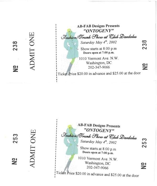Ontogeny Fashion Show Tickets