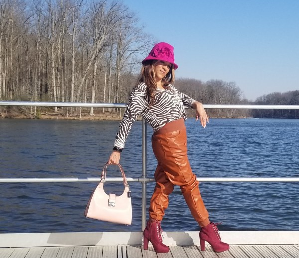KENDALL + KYLIE Women's Vegan Leather Jogger