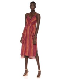 BCBGeneration Folklore Stripes Midi Dress