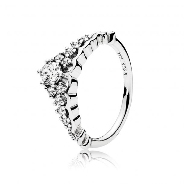 Pandora Jewelry Fairytale Tiara Cubic Zirconia Ring in Sterling Silver