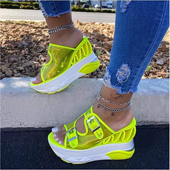 cynllio Peep Toe Cutout Wedge Sandals