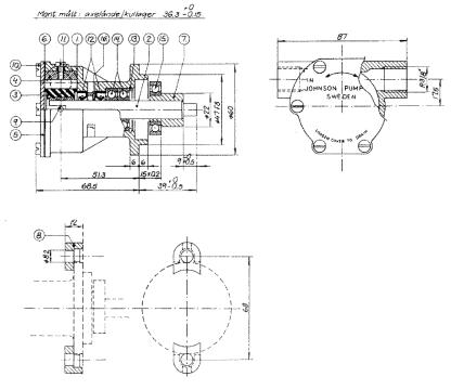 Impellerpumpe F4b für Vetus M4.14 und M3.10 MotorenVetus STM8050 ...