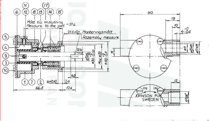 Impellerpumpe F4B Volvo Penta MD1, MD2, MD11, MD17 Serie – AB marine ...