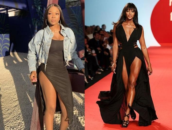 """""""Naomi Campbell knows who I am..."""" Vee boast after meeting her lookalike"""