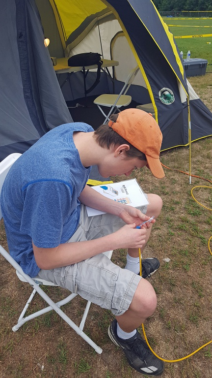 Connor, KC1GGX Building a Field Day Network