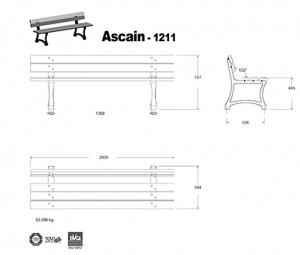 Banc fonte Ascain