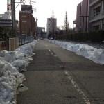 相模原市役所横の雪