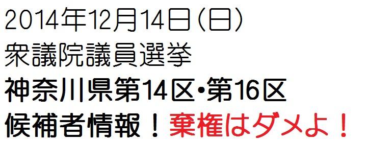 神奈川県第14区・第16区情報