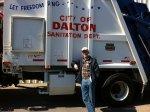 Dave, KJ8V taking care of the Hamfest trash!