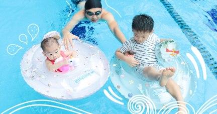 【寶寶泳圈使用心得 | 英國Swimava泳圈浮手。泳池|西班牙Oil&Carol天然橡膠戲水玩具|美國Sweetooth 冰淇淋固齒器(可冰凍)】