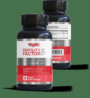 VigRX Fertility Factor 5 Front and Back Side Bottle