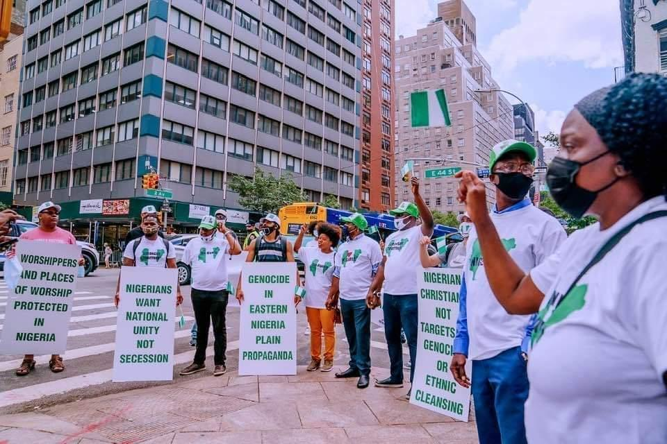 I was Paid to protest - says American Man who joined pro-Buhari protest in New York