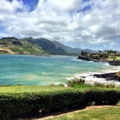 View from golf course in Hawaii