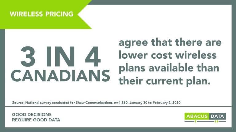 Canadians recognize that regional wireless competitors have helped to reduce prices and believe further competition will reduce prices even more.